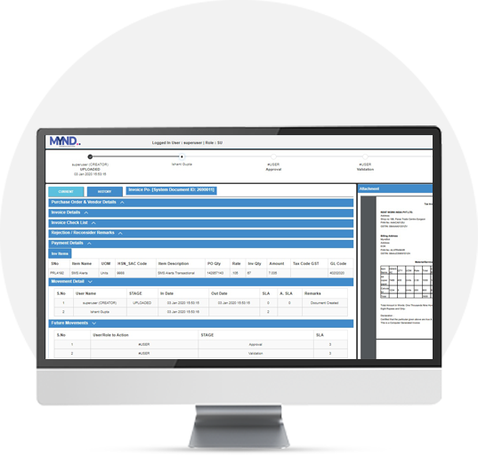 Invoice approval & Tracking Software